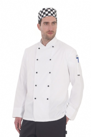 Denny's Removable Stud Lightweight Long Sleeve Chef's Jacket